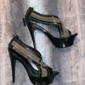 Black Giuseppe Zanotti platform heel